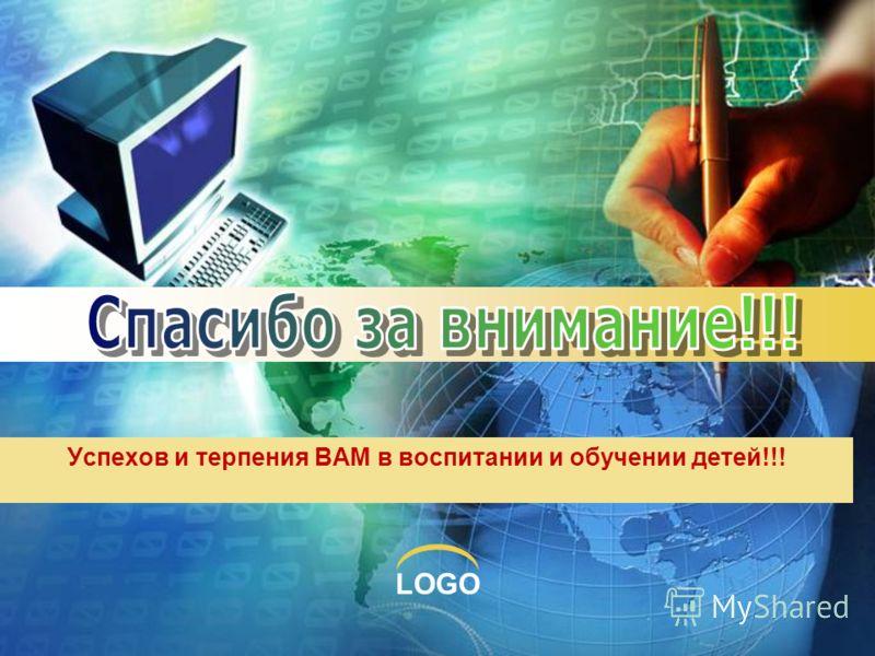 LOGO Успехов и терпения ВАМ в воспитании и обучении детей!!!