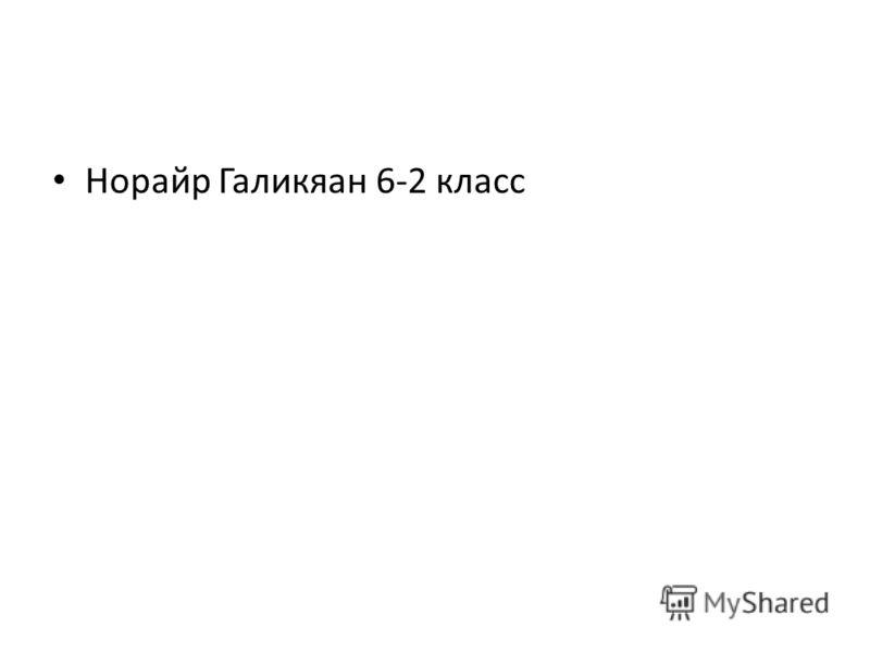 Норайр Галикяан 6-2 класс