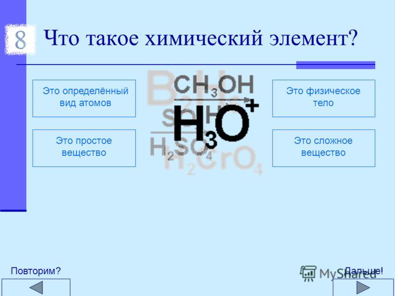 Какое из этих явлений не относится к основным признакам химических реакций? Выделение теплоты и светаИзменение окраскиПоявление запаха Плавление или замерзание Образование осадкаВыделение газа Дальше!Повторим?