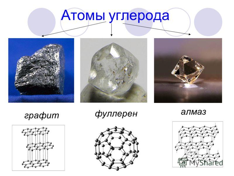 Атомы углерода графит фуллерен алмаз