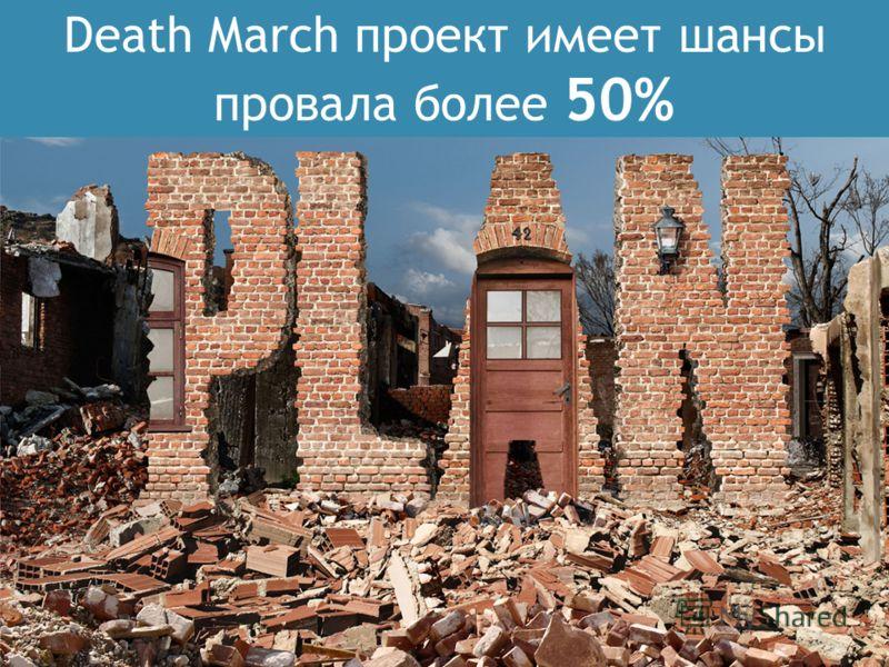 Death March проект имеет шансы провала более 50%