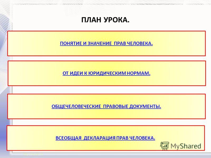 Права и свободы каждого гражданина России Разработка урока по обществознанию