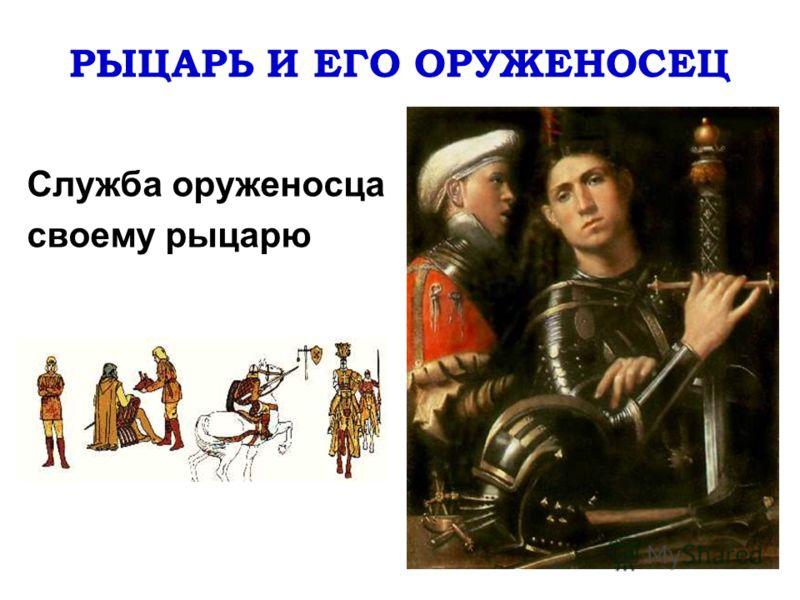 РЫЦАРЬ И ЕГО ОРУЖЕНОСЕЦ Служба оруженосца своему рыцарю
