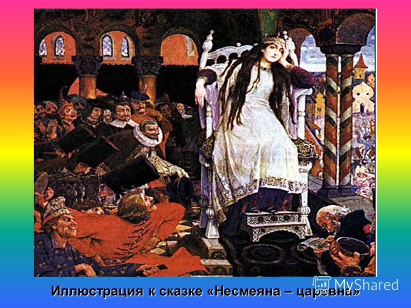 Иллюстрация к сказке «Несмеяна – царевна»