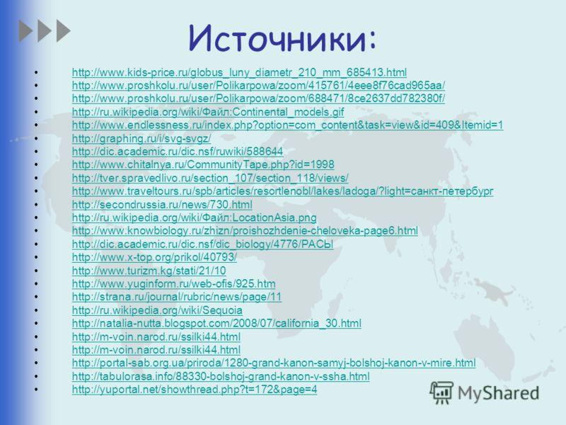 Источники: http://www.kids-price.ru/globus_luny_diametr_210_mm_685413.htmlhttp://www.kids-price.ru/globus_luny_diametr_210_mm_685413.html http://www.proshkolu.ru/user/Polikarpowa/zoom/415761/4eee8f76cad965aa/ http://www.proshkolu.ru/user/Polikarpowa/