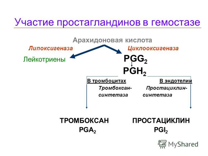 Адгезия и агрегация тромбоцитов Неактивный Активный тромбоцит Факторы адгезии Факторы агрегации Ф.Виллебранда АДФ, Тромбин, Коллаген Адреналин, Тромбоксан Тромбоксан, Фактор активации NO Фибриноген Интегрины мембраны тромбоцитов