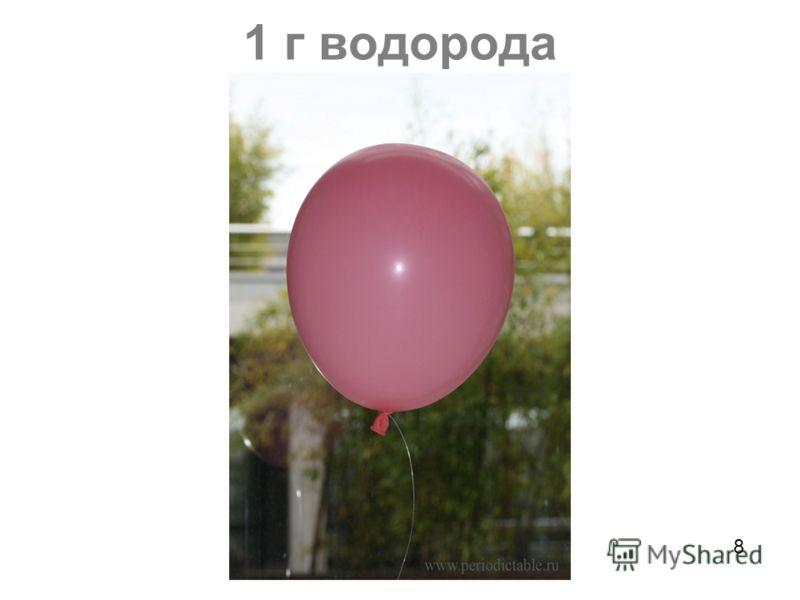 1 г водорода 8