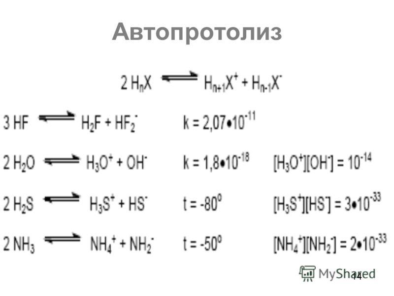 Автопротолиз 14