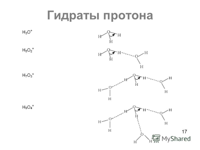 Гидраты протона 17
