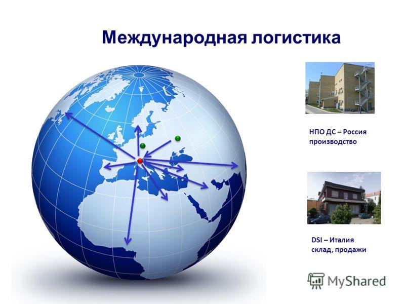 НПО ДС – Россия производство DSI – Италия склад, продажи Международная логистика