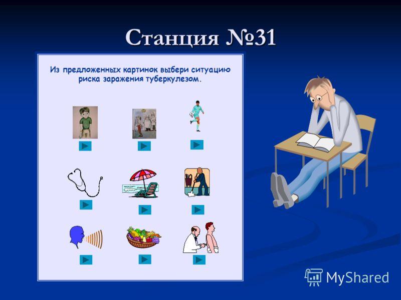 Станция 31 Из предложенных картинок выбери ситуацию риска заражения туберкулезом.