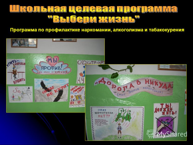 Программа по профилактике наркомании, алкоголизма и табакокурения