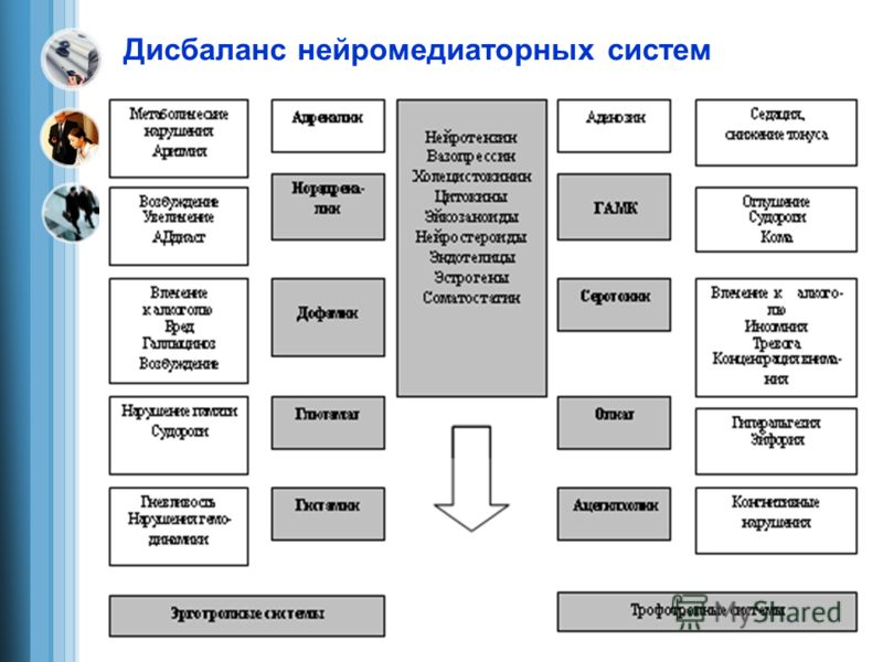 Дисбаланс нейромедиаторных систем