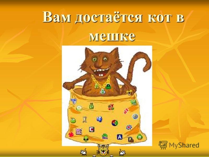 Вам достаётся кот в мешке Вам достаётся кот в мешке
