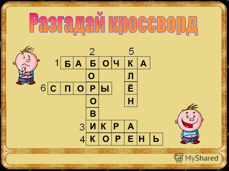 Б АБОЧКА О Р О В И К СПОЫ Л Ё Н КРА ОРЕНЬ