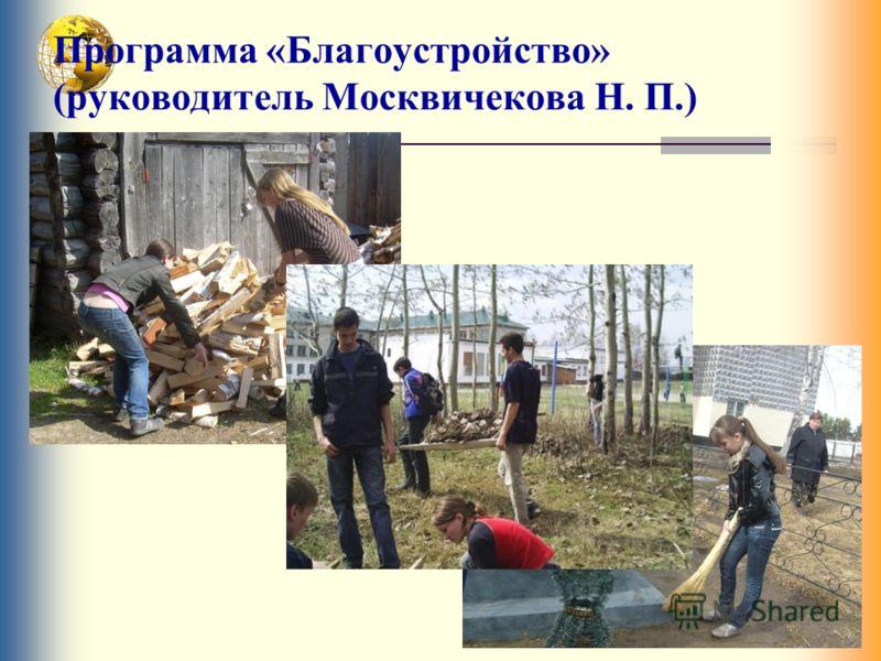 Программа «Благоустройство» (руководитель Москвичекова Н. П.)