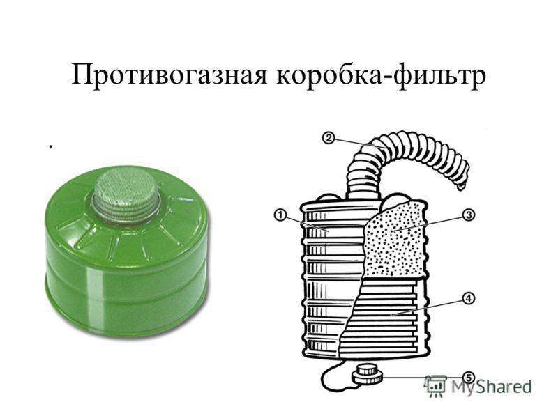 Противогазная коробка-фильтр.