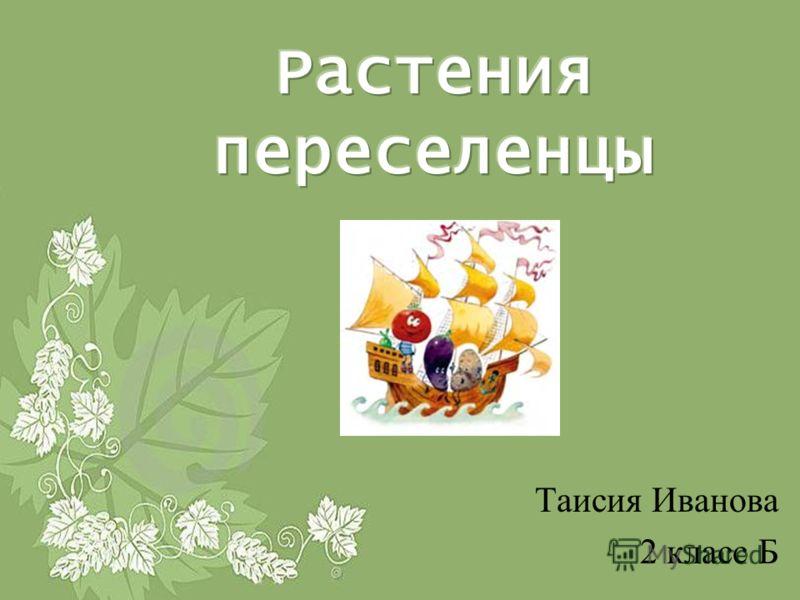 Таисия Иванова 2 класс Б