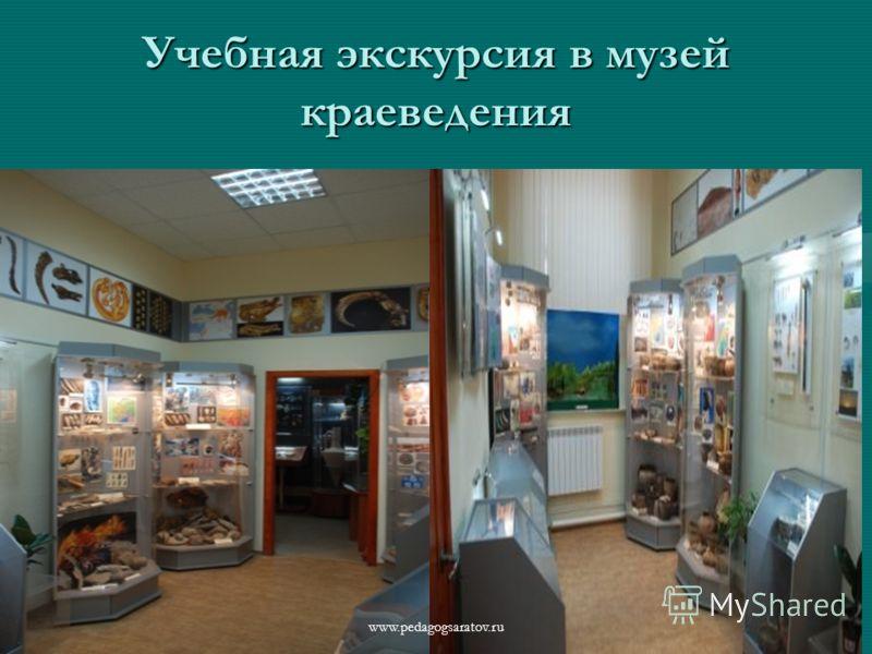 Учебная экскурсия в музей краеведения www.pedagogsaratov.ru