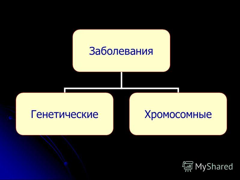 Заболевания ГенетическиеХромосомные
