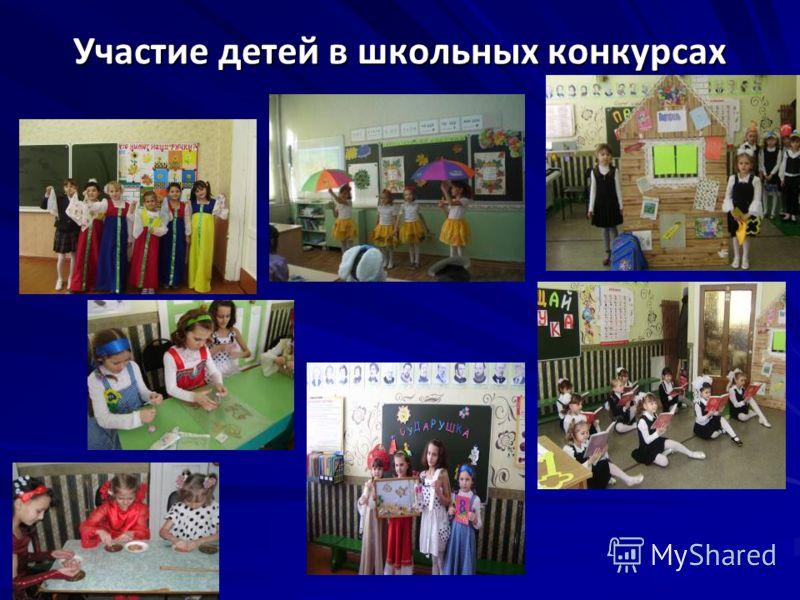 Участие детей в школьных конкурсах