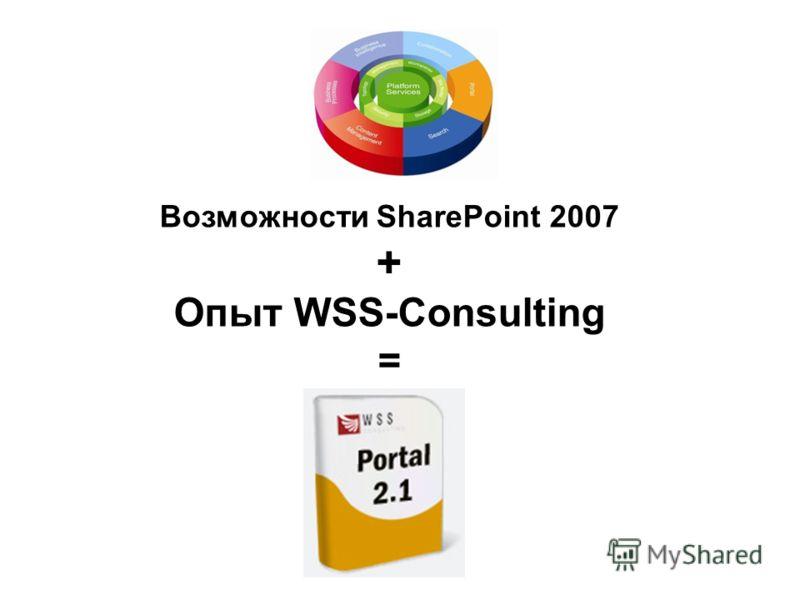 Возможности SharePoint 2007 + Опыт WSS-Consulting =