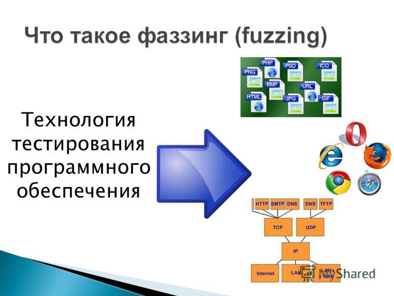 Технология тестирования программного обеспечения