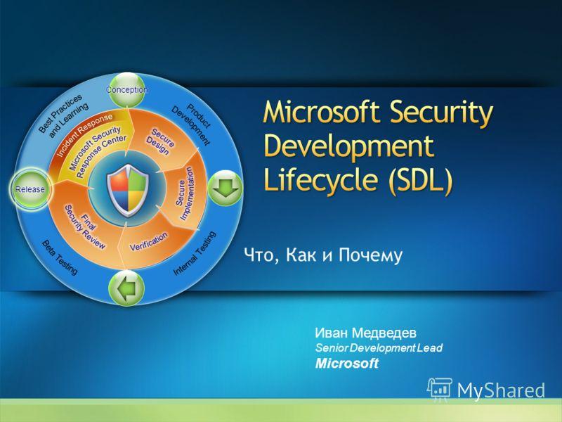 Что, Как и Почему Иван Медведев Senior Development Lead Microsoft