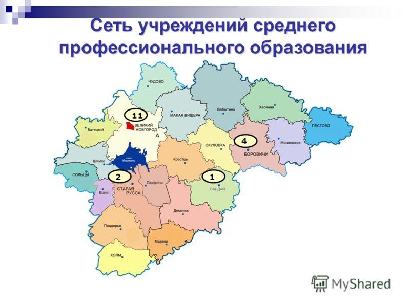 Сеть учреждений среднего профессионального образования 11 2 4 1