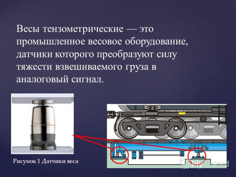 Весы тензометрические это промышленное весовое оборудование, датчики которого преобразуют силу тяжести взвешиваемого груза в аналоговый сигнал. Рисунок 1 Датчики веса