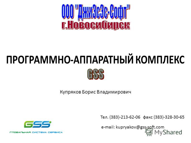 Купряков Борис Владимирович Тел. (383)-213-62-06 факс (383)-328-30-65 е-mail: kupryakov@gss-soft.com