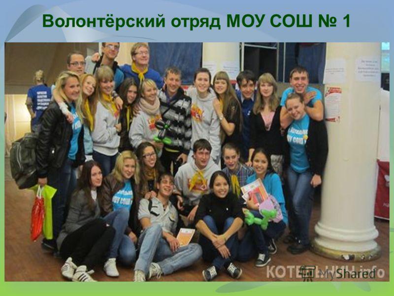 Волонтёрский отряд МОУ СОШ 1