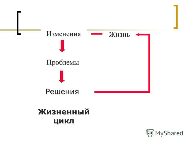Изменения Проблемы Решения Жизнь Жизненный цикл
