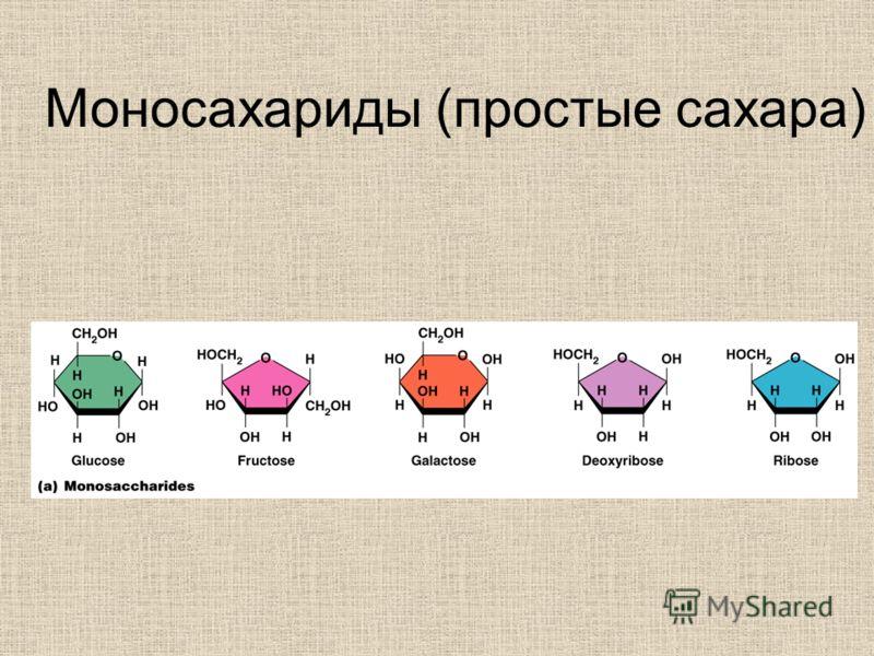Моносахариды (простые сахара)