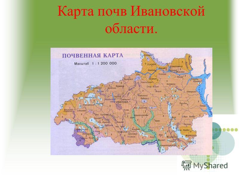 Карта почв Ивановской области.