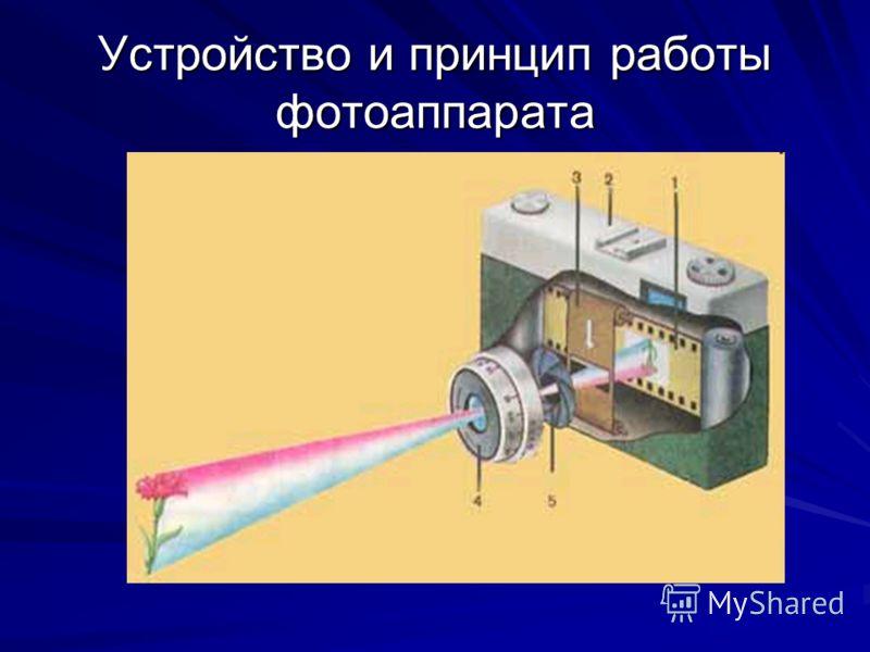 Устройство и принцип работы фотоаппарата