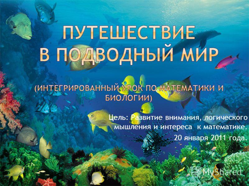 Цель: Развитие внимания, логического мышления и интереса к математике. 20 января 2011 года.