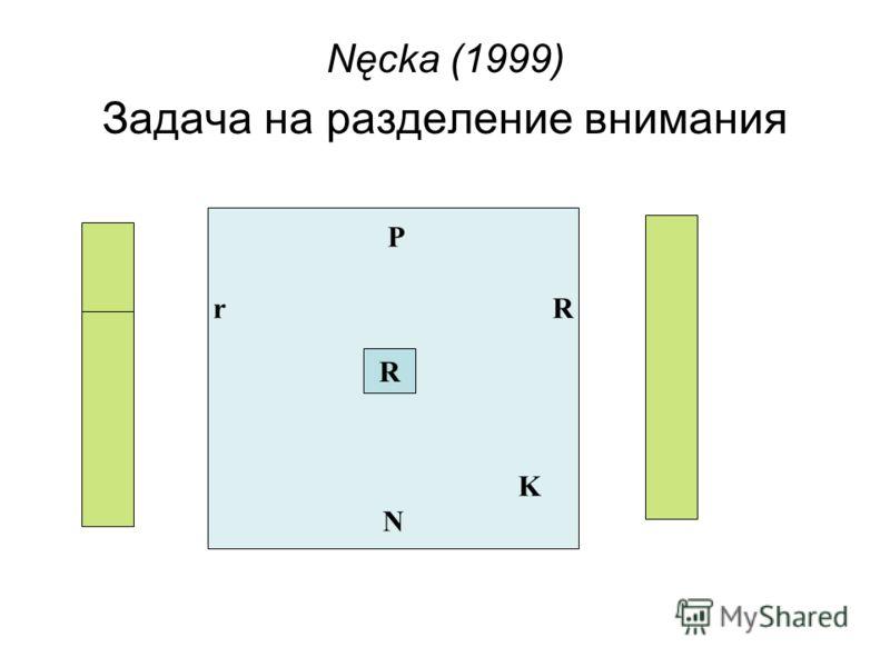 Задача на разделение внимания P r R K N R Nęcka (1999)