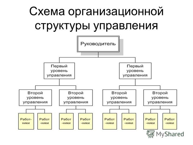 Схема организационной структуры управления