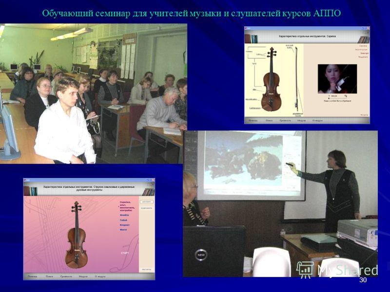 30 Обучающий семинар для учителей музыки и слушателей курсов АППО