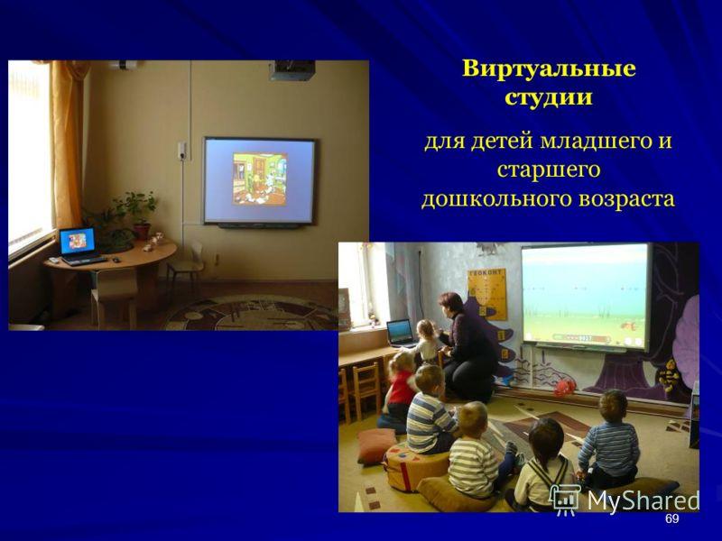69 Виртуальные студии для детей младшего и старшего дошкольного возраста
