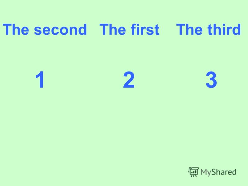 The second The first The third 1 2 3