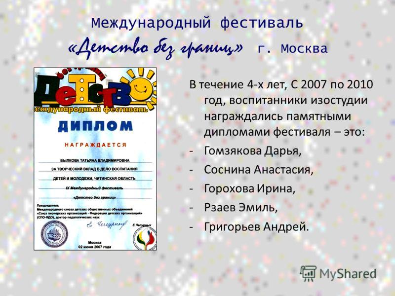 Воспитанники изостудии «Фантазия» принимают активное и результативное участие в конкурсах и выставках детского творчества различного уровня.