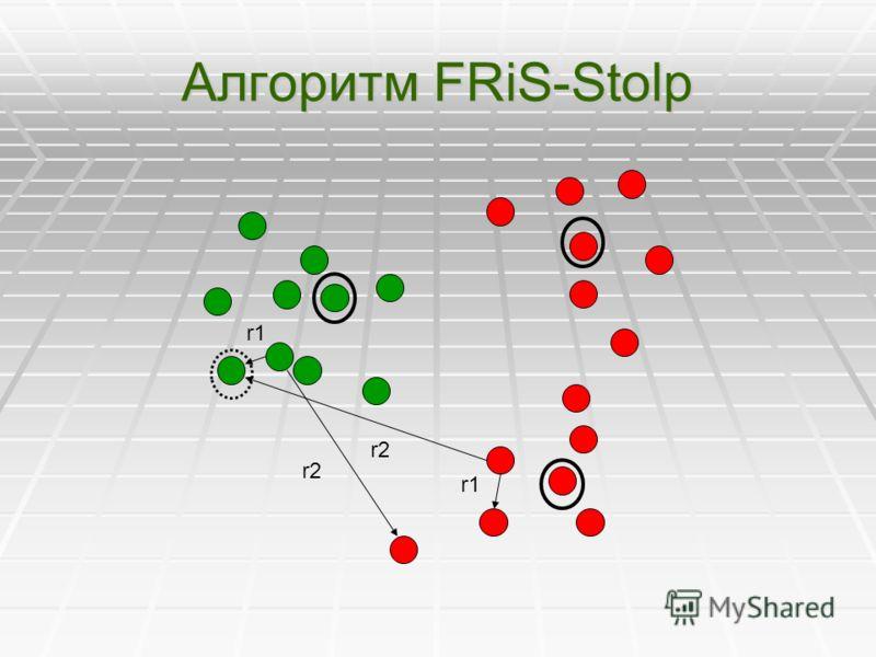 Алгоритм FRiS-Stolp r1 r2 r1 r2