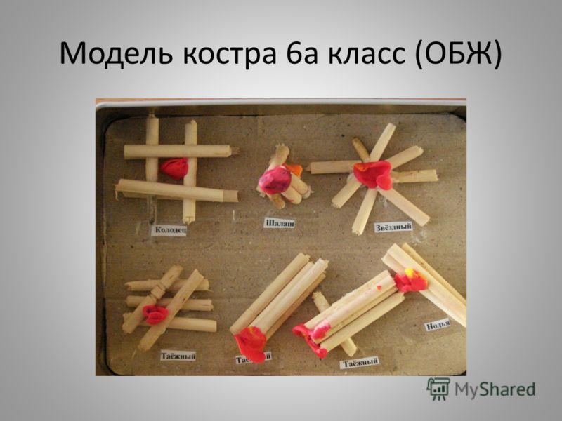 Модель костра 6а класс (ОБЖ)
