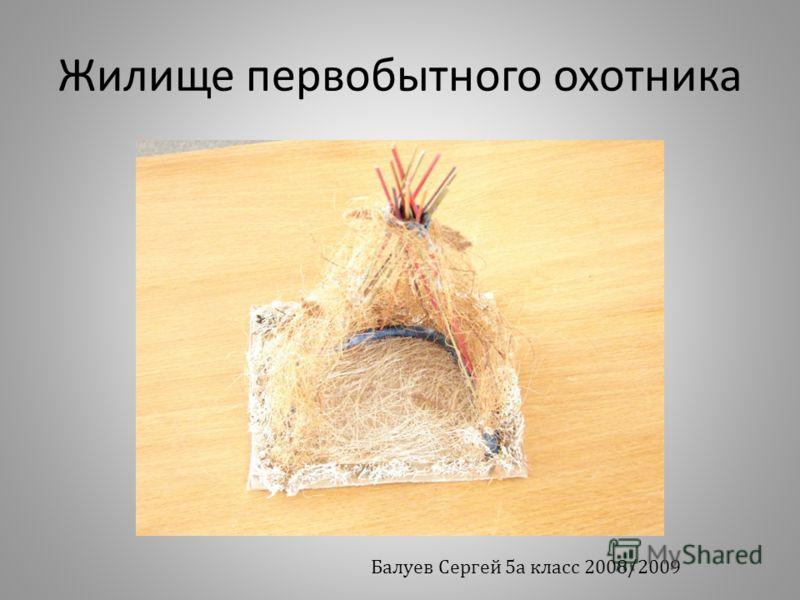 Жилище первобытного охотника Балуев Сергей 5а класс 2008/2009