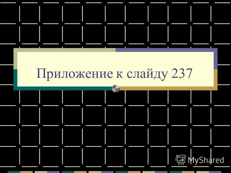 Приложение к слайду 237