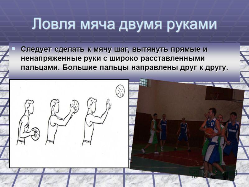 Техника владения мячом Ловля – прием, с помощью которого баскетболист овладевает мячом. Ловля – прием, с помощью которого баскетболист овладевает мячом.
