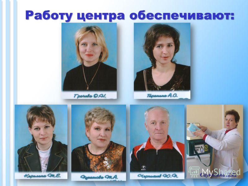 Работу центра обеспечивают: Саушкина Л.К.