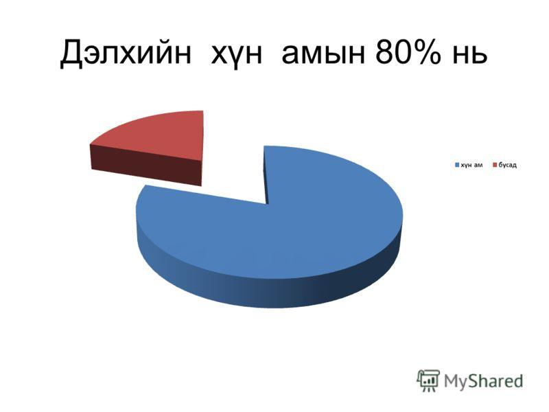 Дэлхийн хүн амын 80% нь